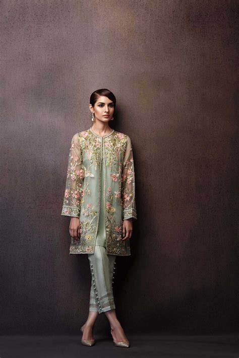 Pakistani Party Wear Embroidered Shirts 2018-2019 Latest Designs | me | Pinterest | Party wear ...