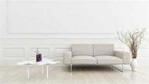 Simple White Living Room Wall Design House - Homes