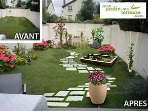 amenagement rez de jardin monjardin materrassecom With marvelous comment amenager un jardin tout en longueur 4 avant apras amenager un jardin tout en longueur