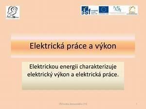 Elektrická práce a elektrický výkon