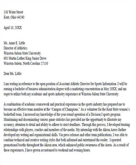 Resume For Athletic Academic Advisor by 6 Sle Academic Advisor Cover Letter Free Sle