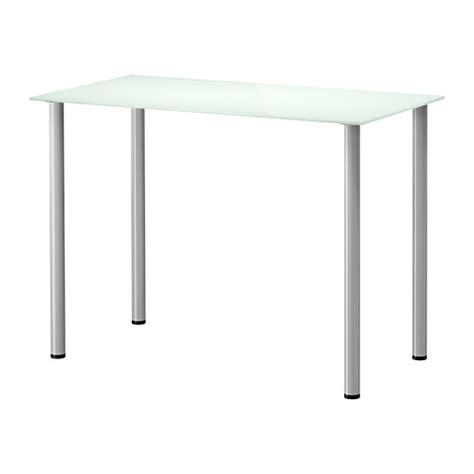 bureau verre ikea glasholm adils table verre blanc couleur argent ikea
