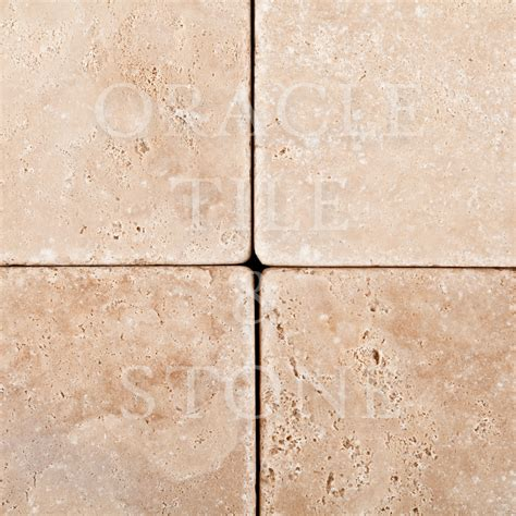Tile Materials 4 by Andean Vanilla Travertine 4 X 4 Field Tile Oracle Tile