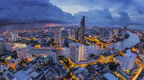perspective thailand thai bangkok city river