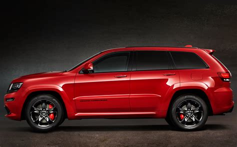 jeep grand cherokee srt red jeep grand cherokee srt red vapor makes its european debut