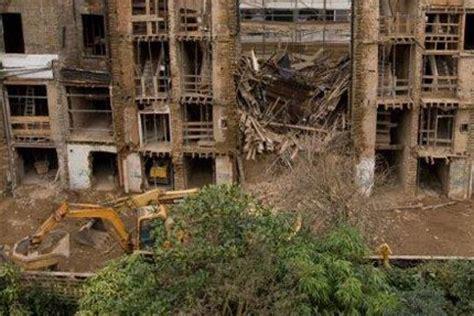 building collapse caused devastation  fulham road