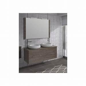 Meuble Double Vasque Design : enchanteur meuble salle de bain design double vasque avec idee pose carrelage salle de ~ Mglfilm.com Idées de Décoration