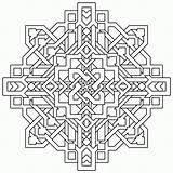 Coloring Geometric Complex sketch template