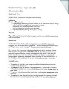 4th Grade Math Lesson Plan Template