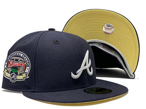 ATLANTA BRAVES 2017 INAUGURAL SEASON NAVY BLUE BUTTER ...