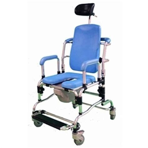 deluge reclining shower chair with headrest commode