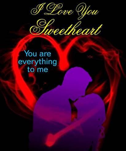 Sweetheart Everything Him Greetings Card He She