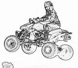 Coloring Wheeler Atv Pages Clipart Quad Four Cartoon Sketch Bike Colouring Drawing Dirt Rider Riding Motorcycle Printable Racing Drawings Sheet sketch template