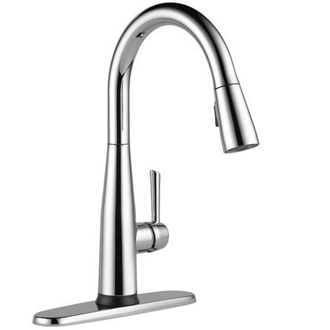 kitchen faucets with touch technology delta essa touch2o technology single handle pull