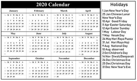 singapore calendar excel word printable