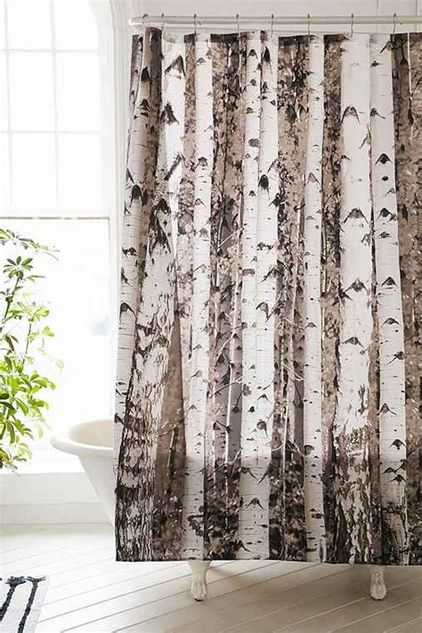birch tree shower curtain outfitters