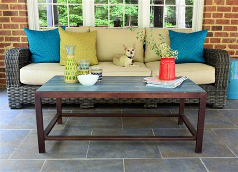 Unless you call balancing a cup of coffee we personally do not, so that's why we love this diy outdoor coffee table! DIY Patio Table - 15 Easy Ways to Make Your Own - Bob Vila