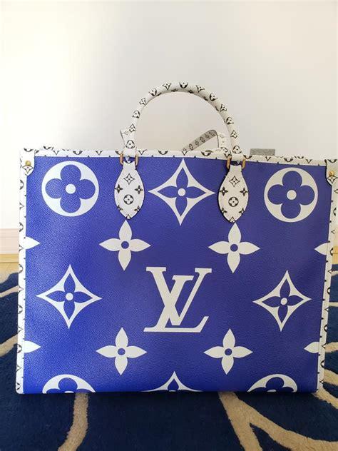 louis vuitton santa monica onthego giant sunset light bluewhiteroyal blue monogram canvas