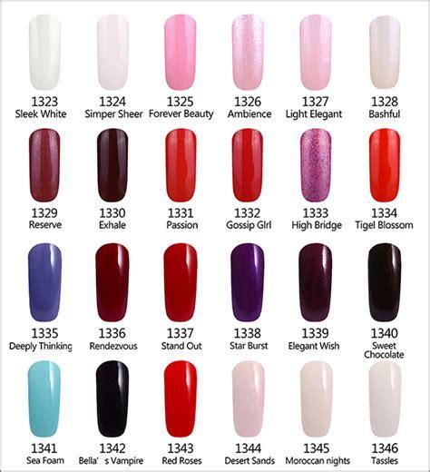 gelish color chart gelartist gelish gel nail colour swatch charts