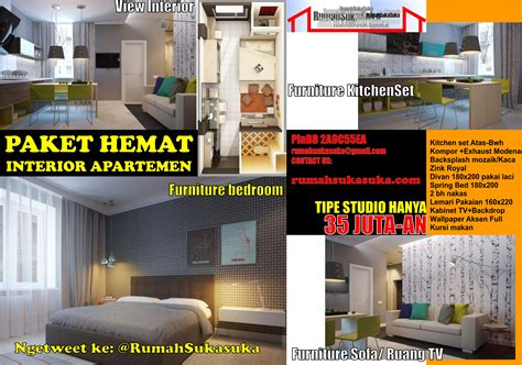 paket hemat interior apartemen renovasi rumah bersama