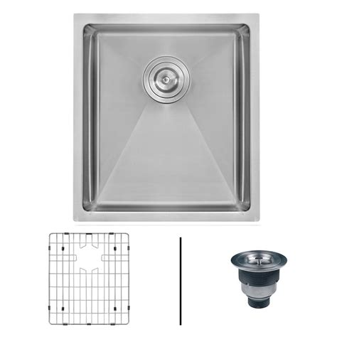 14 stainless steel kitchen sink ruvati undermount stainless steel 14 in bar prep single 8964