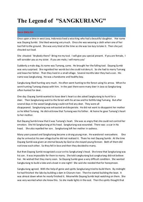 resume tentang narrative text contoh narrative text legenda