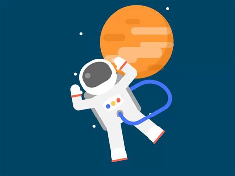 css astronaut animation  coding artist  dribbble