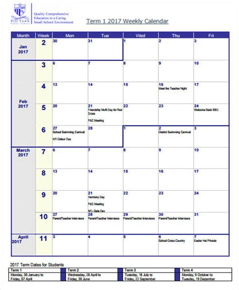 blank calendar templates   ms word