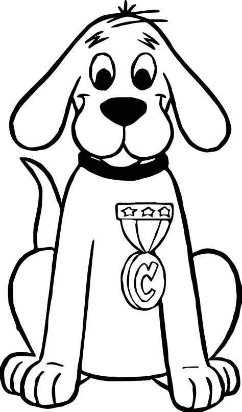 Big Coloring Pages Clifford The Big Prize Coloring Page