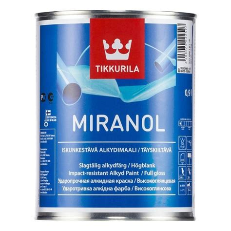 Tikkurila Miranol High Gloss Finish for interior and exterior use on metal plastic and wood