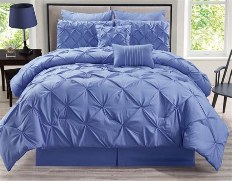 8 Piece Rochelle Pinched Pleat Lavender Comforter Set