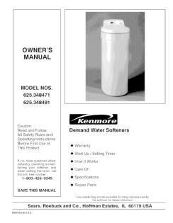 Water Softener Kenmore Water Softener Ultrasoft 400 Manual