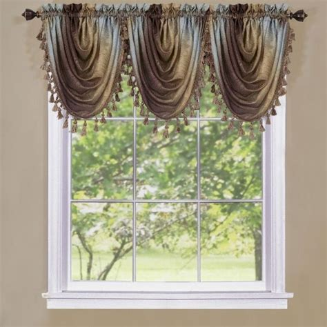 ombre window curtains achim ombre waterfall valance omwfvlch06 window curtain