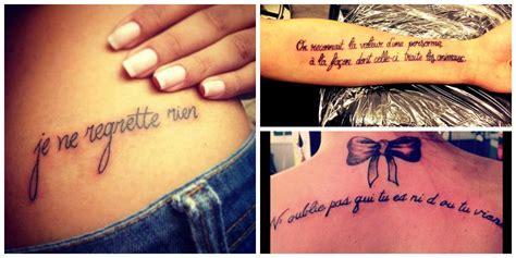 phrase pour tatouage femme