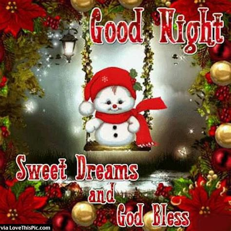 goodnight sweet dreams snowman pictures