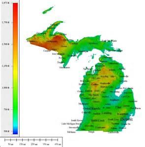 Michigan Elevation Map