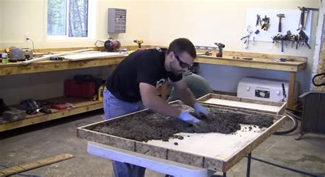 how to make a concrete table top how to make a concrete coffee table with a trowel finish