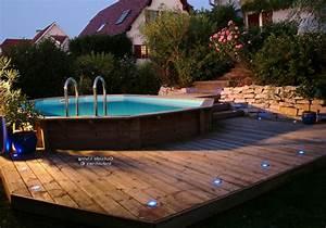 piscine semi enterre bois entretien piscine hors sol With superb terrasse piscine semi enterree 1 les piscines en bois en photo