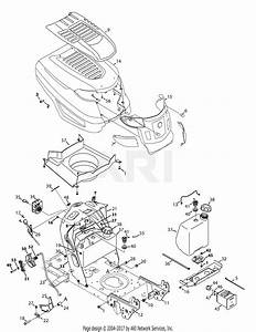 Troy Bilt 13wv78ks011 Bronco  2014  Parts Diagram For Hood