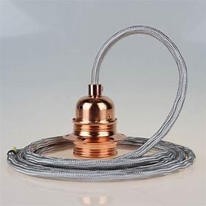 E27 Fassung Metall : textilkabel silber mit e27 fassung metall kupfer kaufen 26 95 ~ Orissabook.com Haus und Dekorationen
