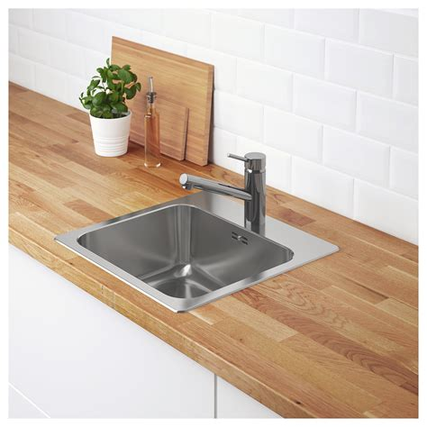 ikea stainless steel sink långudden inset sink 1 bowl stainless steel 46x46 cm ikea