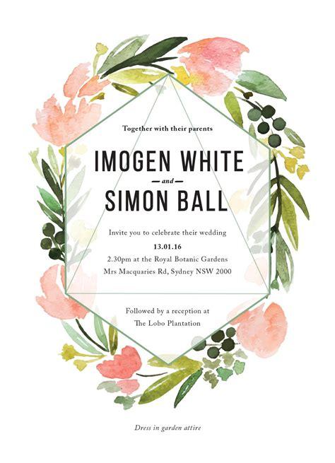 Digital printing Wedding invitations Cascade page of