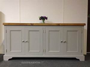 Painted Pine Sideboards Solid Pine Plank Top 6ft
