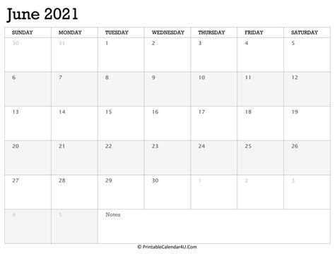 printable calendar june   holidays