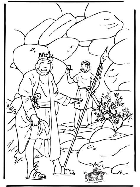 David En Jonathan Kleurplaat by David En Saul Bijbel Kleurplaten Oude Testament
