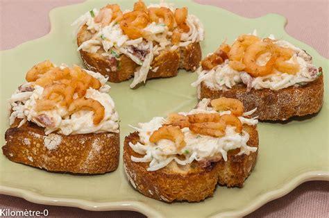 canapé recette facile canapés de radis noir aux crevettes grises kilometre 0 fr