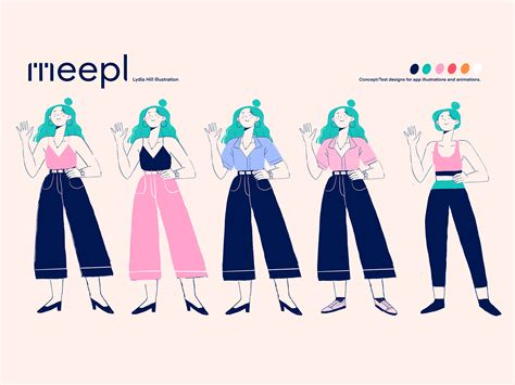 Character Design Concept Lineup For Meepl By Lydia Hill On