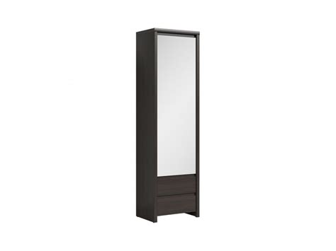Slim Mirrored Wardrobe by Modern Slimline Storage Cabinet Single Wardrobe Unit
