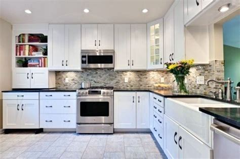 how to paint a ceramic l base kitchens black granite countertops with white