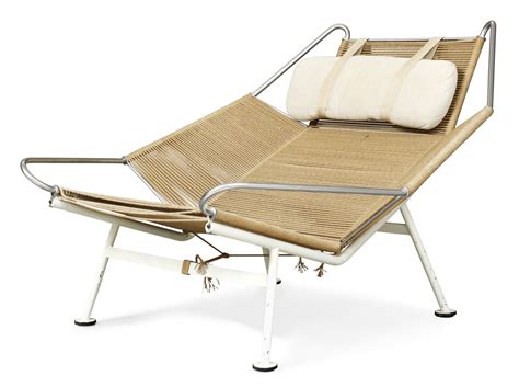 a hans j wegner lounge chair quot flag halyard quot by getama